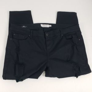 Torrid Denim Destroyed Jeans 20XS Skinny Black